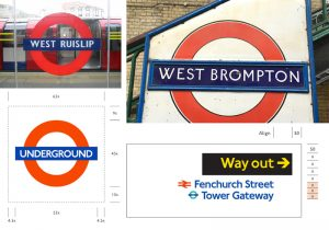 Examples of London Underground signs