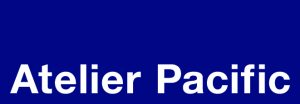 Atelier Pacific Logo (white writing on blue background)