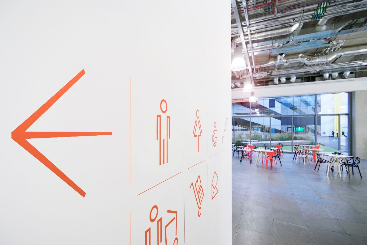 Wayfinding signs - interior shot