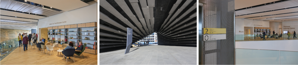 Norsign Case Study Library composite image (project: V&A Museum Dundee signage)
