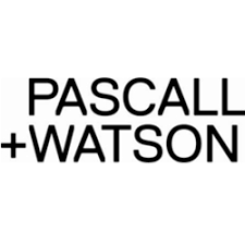 Pascall+Watson Logo - black typeface on a white background