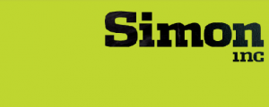 Simon Inc Ltd Logo (black on green background)