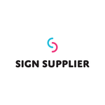 Sign Supplier logo (blue/pink/black) on white background