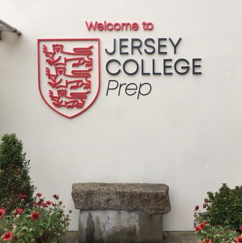 Jersey College signage by Signtech