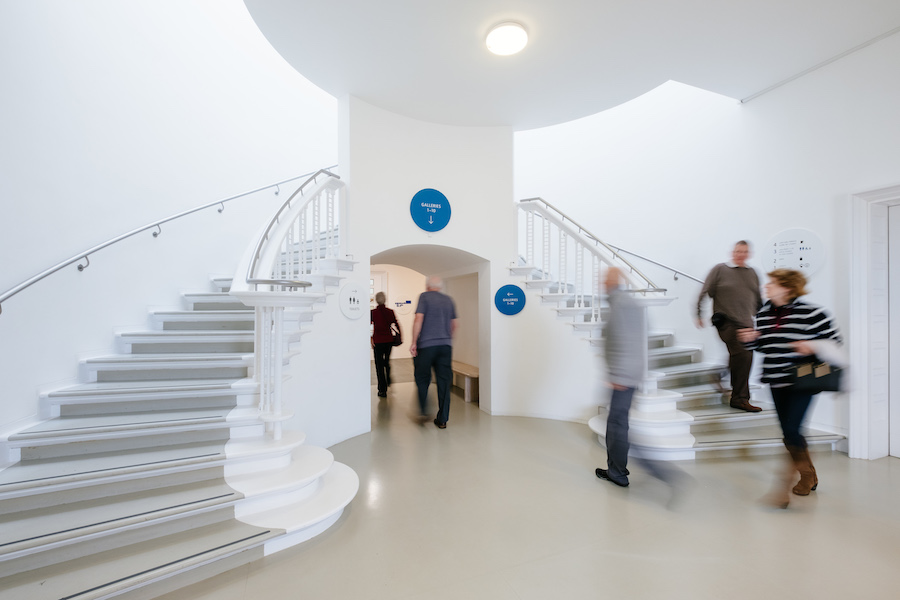 Picture of stairway with signage for Tate by CCD