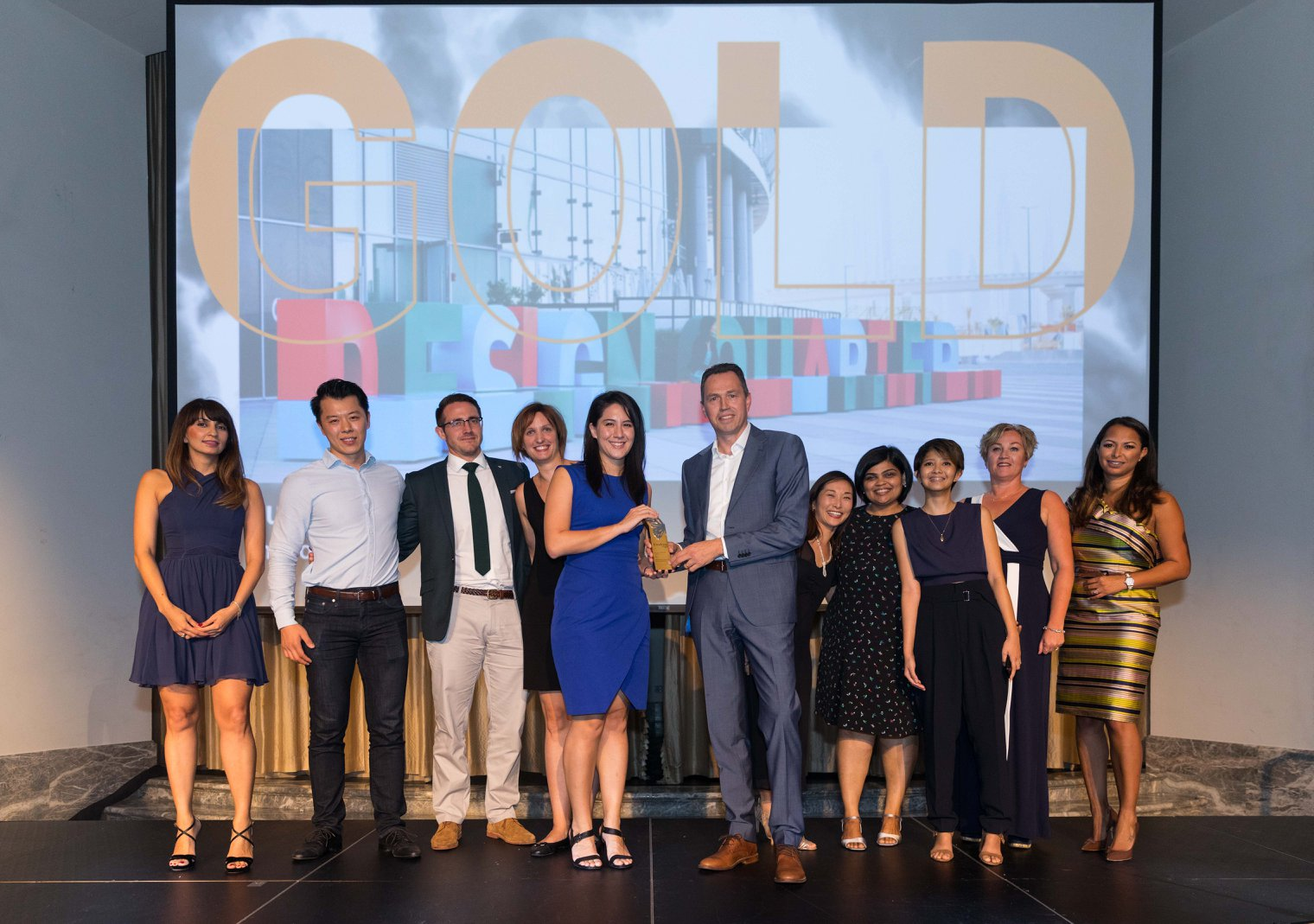 Endpoint wayfinding team receiving international industry award