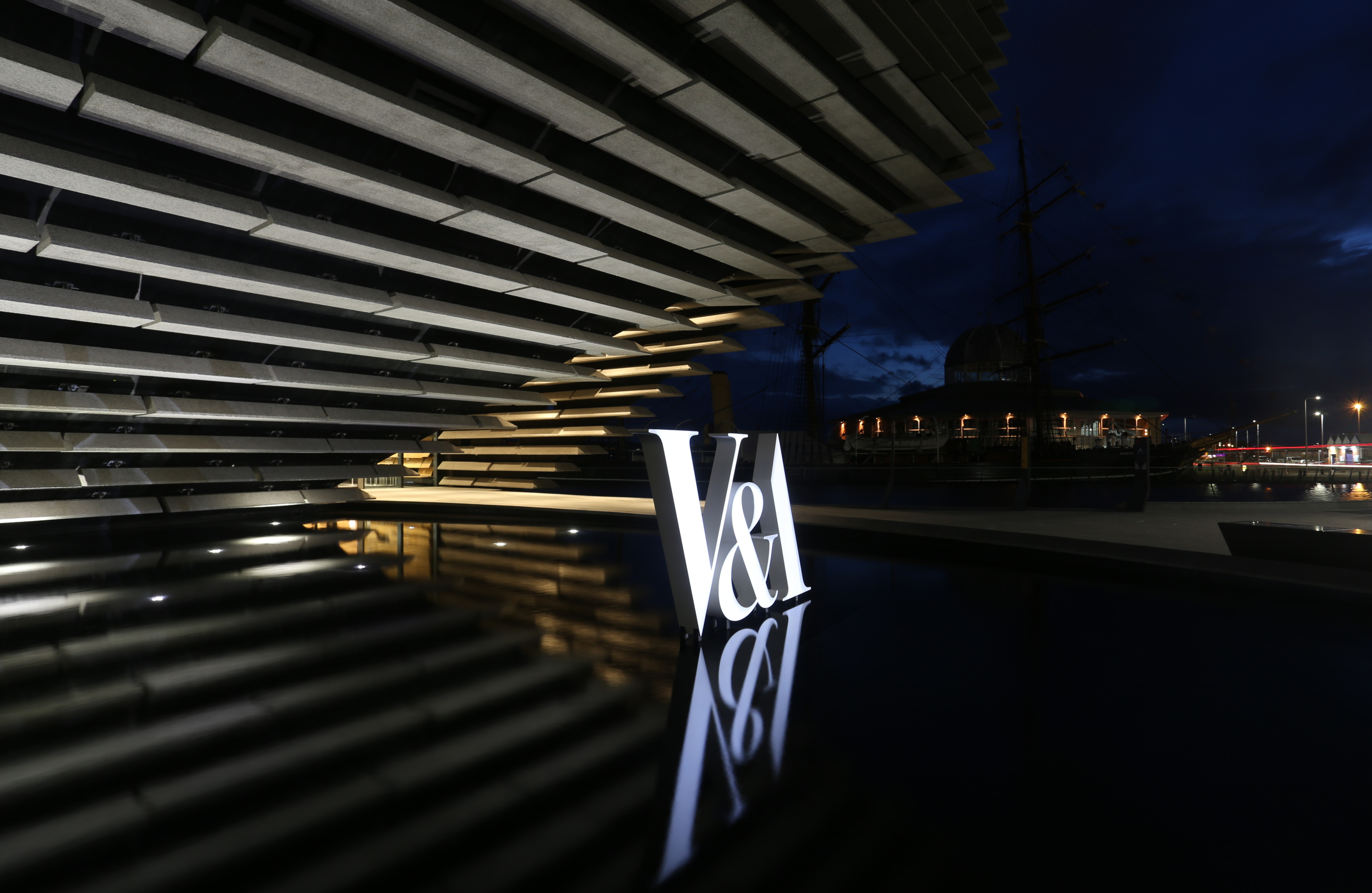 V&A Museum (Dundee) brand signage