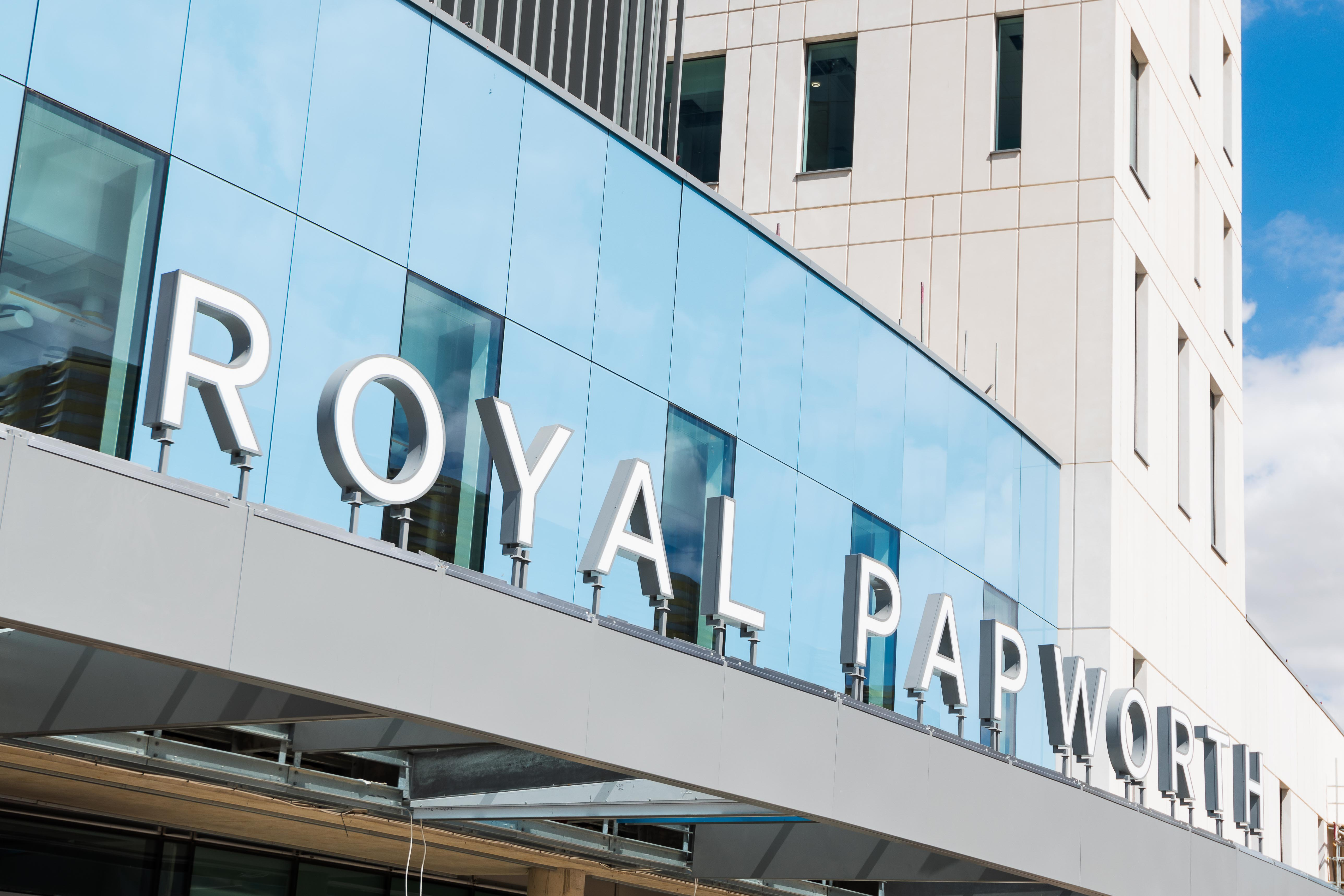 External view of Royal Papworth Hospital showcasing xsign signage
