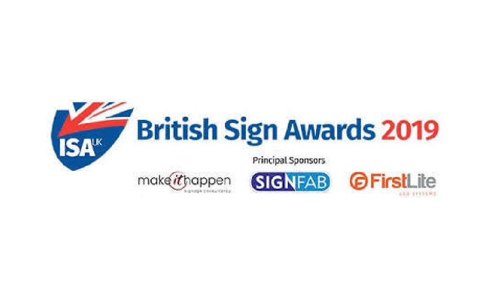 British Sign Awards 2019 logo