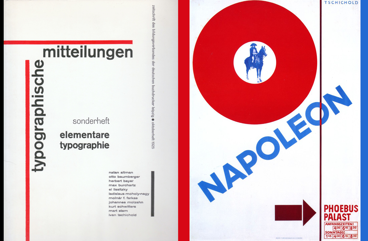 Double image showing Jan Tschichold works