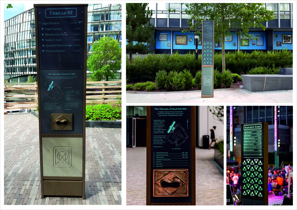 NOMA signage (totems and plinths) by isGroup