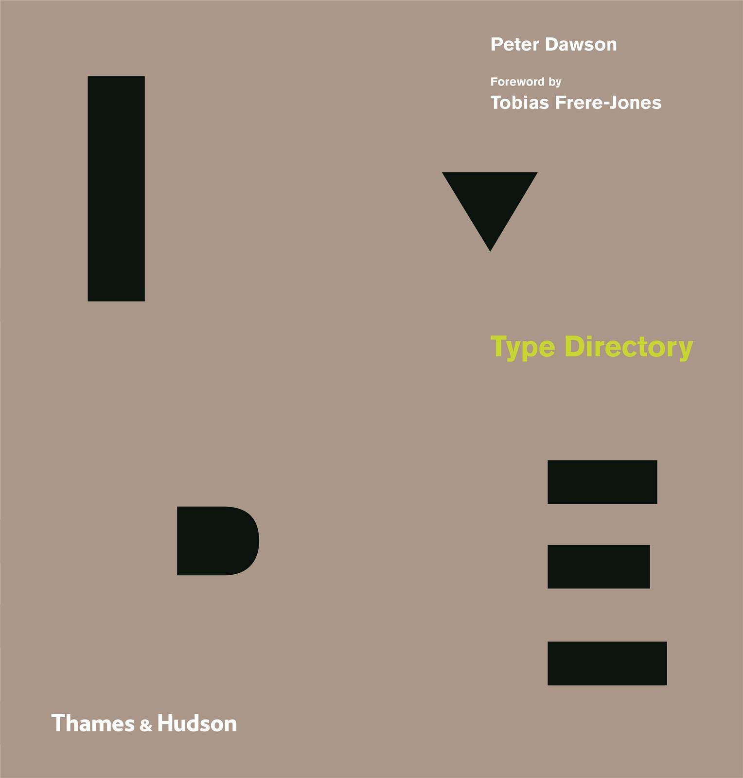 Front cover of typography publication: 'Type Directory' by Peter Dawson